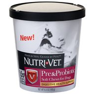 Nutri-Vet Pre & Probiotics Dog Soft Chews, 120 count