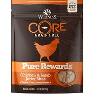 Wellness Pure Rewards Grain-Free Chicken & Lamb Jerky Bites Dog Treats, 4-oz bag