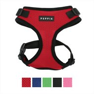 Puppia RiteFit Soft Dog Harness, Red, Large