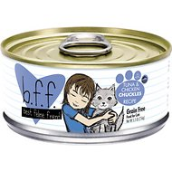 BFF Tuna & Chicken Chuckles Recipe in Aspic Grain-Free Canned Cat Food, 5.5-oz, case of 24