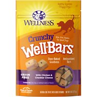 Wellness Grain-Free Crunchy WellBars Chicken & Cheddar Cheese Baked Dog Treats, 8-oz bag