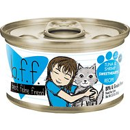 BFF Tuna & Shrimp Sweethearts Recipe in Gravy Grain-Free Canned Cat Food, 3-oz, case of 24