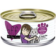 BFF Tuna & Tilapia Twosome Recipe in Aspic Grain-Free Canned Cat Food, 5.5-oz, case of 24
