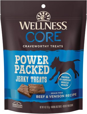 Wellness CORE Pure Rewards Grain-Free Beef & Venison Jerky Bites Dog Treats, 4-oz bag