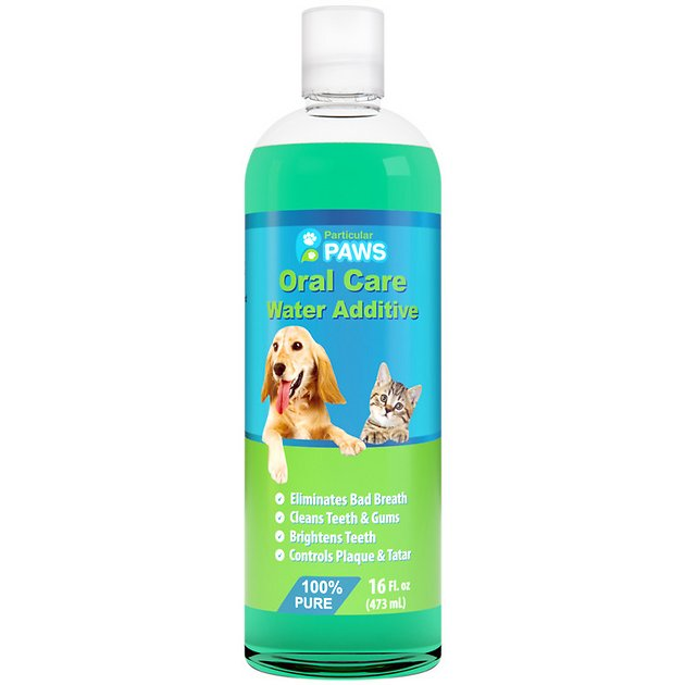 Particular paws oral care dog cat water additive 16 oz for Dog dental water additive