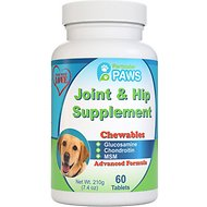 Particular Paws Chewable Tablets Joint & Hip Dog Supplement, 4-oz bottle