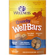 Wellness Crunchy WellBars Whitefish & Sweet Potato Recipe Grain-Free Dog Treat, 8-oz bag