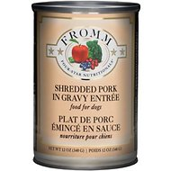 Fromm Four-Star Nutritionals Shredded Pork Entree Canned Dog Food, 12-oz, case of 12