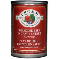 Fromm Four-Star Nutritionals Shredded Beef Entree Canned Dog Food, 12-oz, case of 12