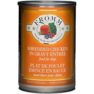 Fromm Four-Star Nutritionals Shredded Chicken Entree Grain-Free Canned Dog Food, 12-oz, case of 12