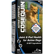 Nutramax Cosequin ASU Active Lifestyle Joint & Pad Health Dog Supplement, 30 count