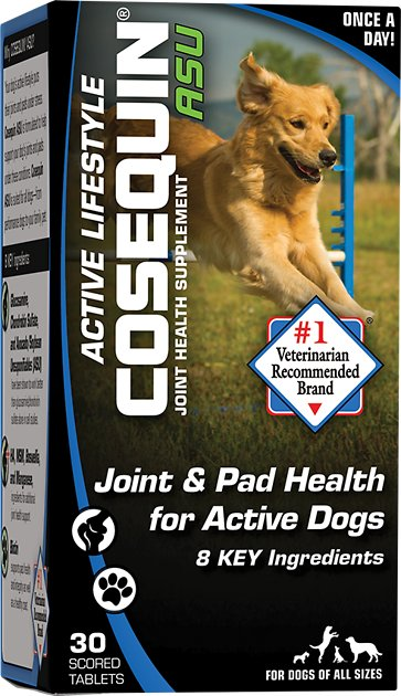nutramax cosequin asu active lifestyle joint pad health dog supplement 30 count. Black Bedroom Furniture Sets. Home Design Ideas