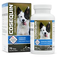 Nutramax Cosequin Standard Strength Chewable Tablets Joint Health Dog Supplement, 75 count