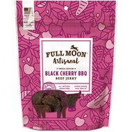 Full Moon Artisanal Small Batch Black Cherry BBQ Beef Jerky Dog Treats, 4-oz bag