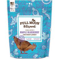 Full Moon Artisanal Small Batch Maple Blueberry Chicken Jerky Dog Treats, 6-oz bag