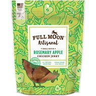 Full Moon Artisanal Small Batch Rosemary Apple Chicken Jerky Dog Treats, 12-oz bag