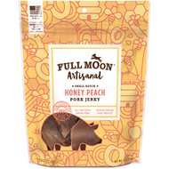 Full Moon Artisanal Small Batch Honey Peach Pork Jerky Dog Treats, 6-oz bag