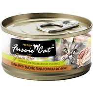 Fussie Cat Premium Tuna with Smoked Tuna Formula in Aspic Canned Cat Food, 2.82-oz, case of 24