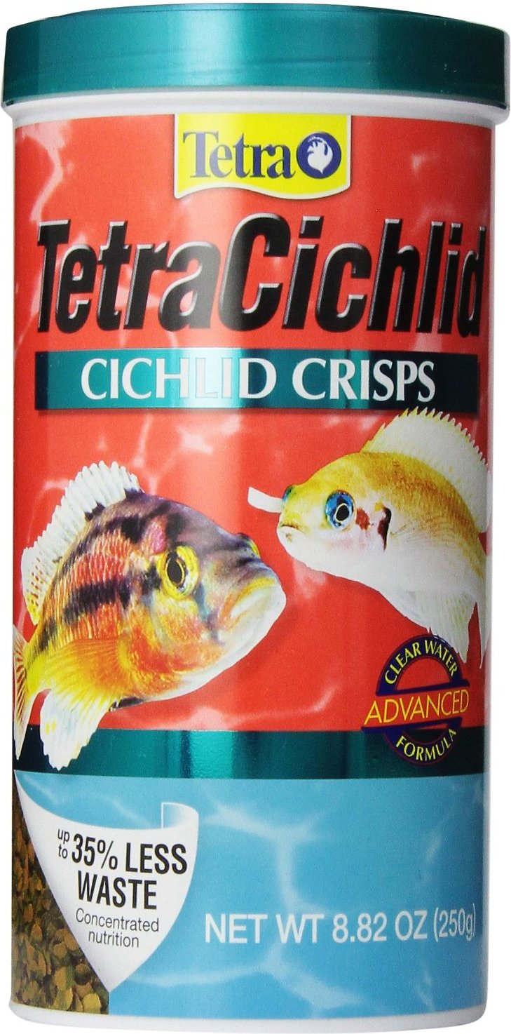 Tetra Cichlid Crisps Fish Food, 8.82-oz jar - Chewy.com