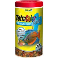Tetra Color Plus Tropical Flakes Fish Food, .42-oz jar