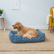 P.L.A.Y. Pet Lifestyle and You Moroccan Lounge Bed, Navy, Large