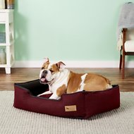 P.L.A.Y. Pet Lifestyle and You Houndstooth Lounge Bed, Red/Black, Medium