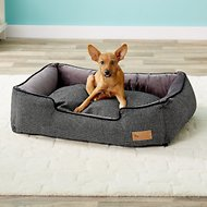 P.L.A.Y. Pet Lifestyle and You Houndstooth Lounge Bed, Black/Grey, Medium
