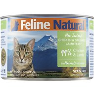 Feline Natural Chicken & Lamb Feast Grain-Free Canned Cat Food, 6-oz, case of 24