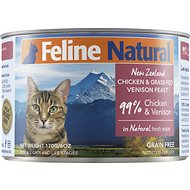 Feline Natural Chicken & Venison Feast Grain-Free Canned Cat Food, 6-oz, case of 24