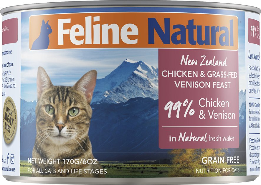 Feline Natural Chicken Venison Feast Grain Free Canned Cat Food