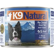 K9 Natural Grass-Fed Beef Feast Grain-Free Canned Dog Food, 6-oz, case of 24