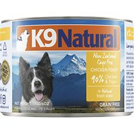 K9 Natural Cage-Free Chicken & Tripe Feast Grain-Free Canned Dog Food, 6-oz, case of 24