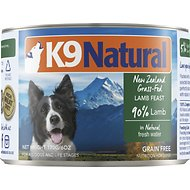 K9 Natural Grass-Fed Lamb Feast Grain-Free Canned Dog Food, 6-oz, case of 24