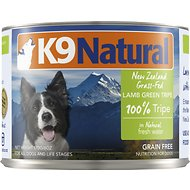 K9 Natural Grass-Fed 100% Lamb Green Tripe Grain-Free Canned Dog Food, 6-oz, case of 24