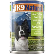 K9 Natural Grass-Fed 100% Lamb Green Tripe Grain-Free Canned Dog Food, 13-oz, case of 12
