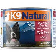K9 Natural Grass-Fed Venison Feast Grain-Free Canned Dog Food, 6-oz, case of 24