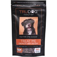 TruDog Treat Me Crunchy Beef Delight Freeze-Dried Raw Super Dog Treats, 2.5-oz bag
