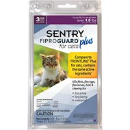 Sentry FiproGuard Plus Flea & Tick Squeeze-On for Cats Over 1.5 lbs, 3 treatments