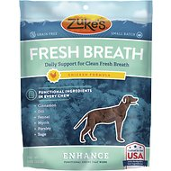 Zuke's Enhance Fresh Breath Chicken Formula Dog Treats, 5-oz bag