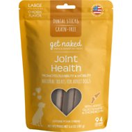Get Naked Joint Health Grain-Free Dental Chew Sticks Dog Treats, Large