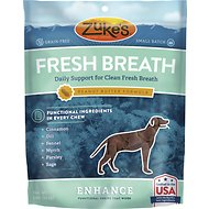 Zuke's Enhance Fresh Breath Peanut Butter Formula Dog Treats, 5-oz bag