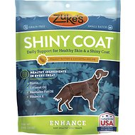 Zuke's Enhance Shiny Coat Peanut Butter & Chickpea Recipe Dog Treats, 5-oz bag