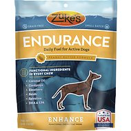 Zuke's Enhance Endurance Peanut Butter Formula Dog Treats, 5-oz bag
