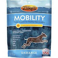 Zuke's Enhance Mobility Chicken Formula Dog Treats, 5-oz bag