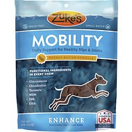 Zuke's Enhance Mobility Peanut Butter Formula Dog Treats, 5-oz bag