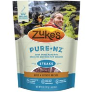 Zuke's PureNZ Steaks New Zealand Beef with Potato Recipe Dog Treats, 5-oz bag