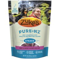 Zuke's PureNZ Steaks New Zealand Beef with Sweet Potato Recipe Dog Treats, 5-oz bag
