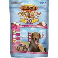 Zuke's Skinny Bakes Baked with Coconut & Strawberry Dog Treats, 10-oz bag