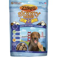 Zuke's Skinny Bakes Baked with Coconut & Blackberry Dog Treats, 10-oz bag