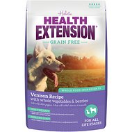 Health Extension Grain Free Venison Recipe Dry Dog Food, 23.5-lb bag